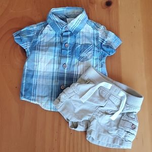 Carters plaid shirt outfit
